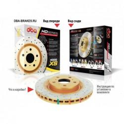 Тормозной диск DBA DBA42807XS для GOLF