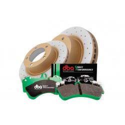 Комплект на переднюю ось: диски DBA DBA2722EX и колодки 1838SP для LAND CRUISER 200,LX 570