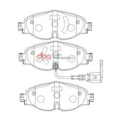 Тормозные колодки DBA DB2383SP для GOLF