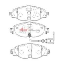 Тормозные колодки DBA DB2383XP для GOLF