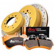 Комплекты колодок и тормозных дисков DBA